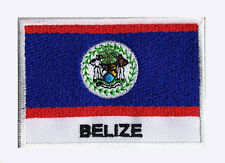 Patch écusson brodé patche drapeau BELIZE Belize 70 x 45 mm Pays Monde