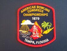 1979 ABC American Bowling Congress Tournament Bowling Patch Emblem Tampa Florida