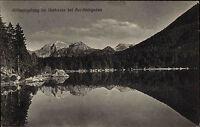 Berchtesgaden Bayern s/w ~1920/30 Göll Spiegelung im Hintersee bei Berchtesgaden