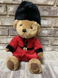 "Harrods Knightsbridge Queens Palace Guard 14"" Plush Teddy Bear Stuffed Animal"