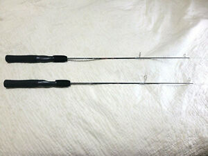 """Lot(2) Shakespeare Ugly Stik Dock Rods Ice Spinning 36"""" Fishing Rod 4-8 lb. line"""