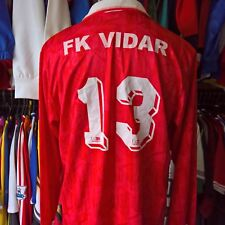 FK VIDAR 1992 HOME FOOTBALL SHIRT MATCH WORN L/S #13 UMBRO SIZE ADULT L