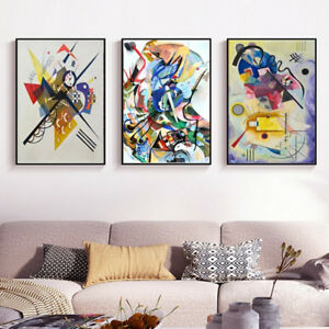 3 Piece Canvas Prints Set - Wassily Kandinsky Digital Paintings Art - (Unframed)