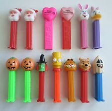 Mixed Lot of 13 Pez Dispensers Santa Pumpkin Witch Bart Garfield Ghost Bunny