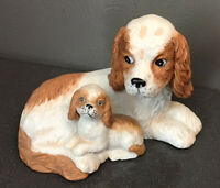 Canine Companions Cocker Spaniels Dogs Porcelain Figurine Home Interiors & Gifts