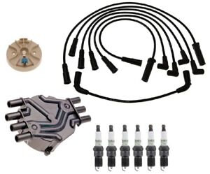 ACDelco Ignition Kit Distributor Rotor Cap Wire & Spark Plugs for GMC Chevy 4.3L