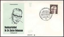 Berlin 1971, 70pf Dr. G. Heinemann Definitive FDC First Day Cover #C34377