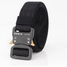 "1.26"" Black Nylon Tactical Belts for Men Quick Release Metal Buckle Webbing Belt"