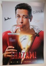 SDCC Comic Con 2018 DC Shazam Exclusive Poster Zachary Levi Cast SIGNED LOT B