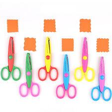 6pcs/set Paper-cutter Lace Six Patterns Handmade Safety DIY Tools Scissors Set