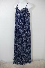 Anthropologie by Moon River Marsilea Midi Dress M Blue Lace floral