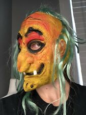 VTG Topstone Creep Witch Troll Scary Latex Rubber Halloween Mask Hair Top Stone