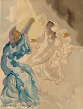 Salvador Dali The Divine Comedy woodcut art print PARADISE Canto 5, Make Offer!