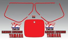 1986 YAMAHA YZ125 DECAL GRAPHIC REPRODUCTION KIT LIKE NOS