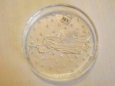 "Set of 4 SELEZIONE IVV Mouth Blown Glass Dishes 4 1/4"" Christmas Angels NWT"