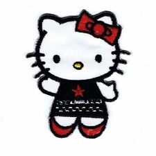 Hello Kitty-Gothique-écusson Aufbügler patch badge-Neuf #9072