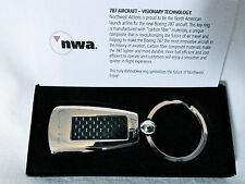 Northwest Airlines Key Chain NWA Boeing 787 New Carbon Fiber USA NEW