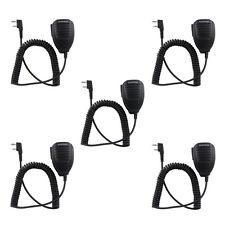 5PC Handheld BAOFENG UV-5R V2+ BF-F8+ WP970 888s Speaker Mic Walkie Talkie Radio