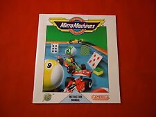 Micro Machines Nintendo NES Instruction Manual Booklet ONLY