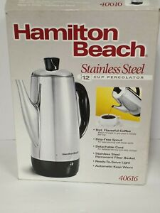 Hamilton Beach 12 Cup Electric Percolator Coffee Maker, Stainless Steel open box