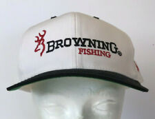 Browning Fishing Mens Hat Snapback Black White Red Trucker Baseball Hat