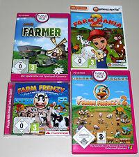 4 PC SPIELE SAMMLUNG FARM FRENZY 1 2 - FARM MANIA 2 - YOUDA FARMER - WIMMELBILD