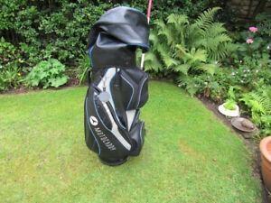 Motocaddy Trolley/Cart bag Black/Grey Blue Golf Bag with rain cover