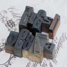 0-9 Zahlen-Mix Holzlettern Letter Holzzahlen Zahl Vintage Stempel wood type rar