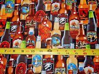 Beers Brew Bottles Bottle Legar Beer C5123 TT Cotton fabric