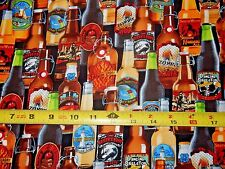 Beers Brew Bottles Bottle Legar Beer C5123 TT Cotton fabric