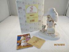 "Precious Moments ""To a Very Special Mom"" E-2824 Figurine Girl with Cat"