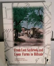 From Saybrook and Lyons Farms to Hillside. New Jersey rare SC. Arnold H. McClow.