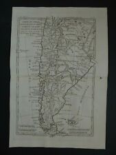 1780 BONNE  Atlas map  CHILE - Carte du Chili - Patagonia - Falkland Islands