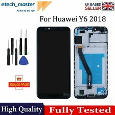 For Huawei Y6 2018 LCD Black Touch Screen Digitizer Display Replacement +Frame
