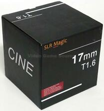 SLR MAGIC 17MM T1.6 CINE OBJEKTIV CINEMA SCHWARZ MFT GH5 GH5S E-M1X BMPCC4K