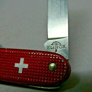 Victorinox / Elinox 93mm Pruner Swiss Army Knife in Red Alox old cross