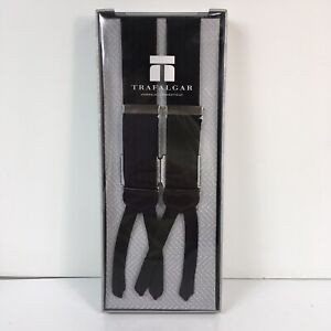 Trafalgar Suspenders Black Herringbone New In Box