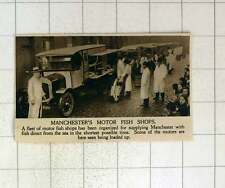 1920 Fleet Of Motor Fish Shops Supplying Manchester With Fresh Catch