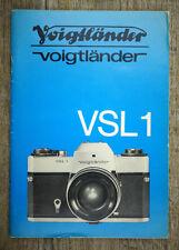 Kamera Bedienungsanleitung VOIGTLÄNDER VSL 1 User Manual Anleitung (X5074