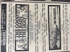b1n ephemera 1968 advert classic cinema st austell the good the bad and the ugly
