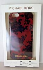 NWT MICHAEL KORS Lace Print Plastic iPhone 6 & 6S Cover Cherry & Black MSRP $45