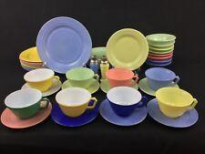 Hazel Atlas Moderntone Multicolor 42-Piece Set for EIGHT (8)