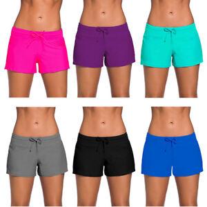 Damen Hot Pants Badehose Badeshorts Kurze Hose Sporthose Schwimmshort  L - 3XL