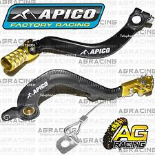 Apico Black Yellow Rear Brake & Gear Pedal Lever For Suzuki RM 250 2004 MotoX