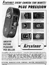 Keystone 8 Movie Camera AD 1947 Original Vintage Advertisement