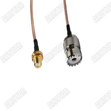 Pigtail Cable SMA Jack to UHF SO-239 SO239 Female Jack RG316 15cm for Wireless