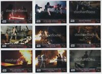2016 Topps Star Wars The Force Awakens Chrome Refractor You Pick Finish Your Set