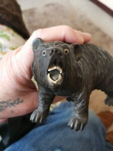 Black Forest Bear Carveing Victorian Glass Eyes