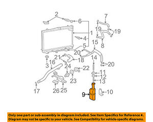 HYUNDAI OEM Elantra-Radiator Coolant Overflow Tank Recovery Bottle 254312D000