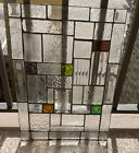 Beveled - Stained Glass Window Panel 19 X 15 Inches Architectural Beveled Glass